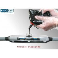 Mufa kablowa żywiczna prosta, do przewodów max. 4x6mm2 i średnicach zewnętrznych 6-28mm