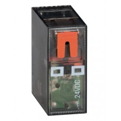 Przekaźnik miniaturowy ze wskaźnikiem LED i przyciskiem mechanicznym, sterowanie 230VAC, 2C/O, 8A, do gniazd HR5XS2