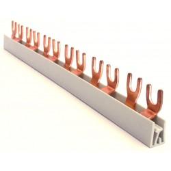 Szyna 2-fazowa, widełkowa, 10mm2, długość 101,6cm